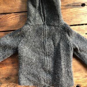 Oeuf baby alpaca back zip cat sweater